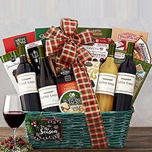 Little Lakes Cellars Holiday Basket: Gifts for Birthday