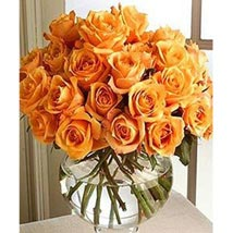 Long Stem Orange Roses: Birthday Gifts Houston