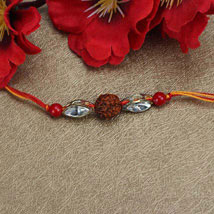 Love For Rudraksha Rakhi: Rakhi to Irvine