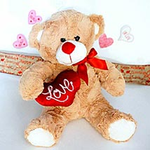Love Message Brown Teddy: Send Valentine Gifts to Kansas City