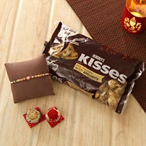 Lovely Rakhi with Hershey Kisses: Rakhi to Irvine