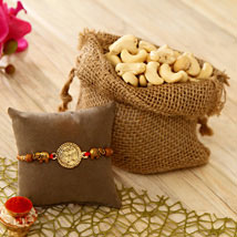 Om Rakhi N Cashews: Rakhi with Dryfruits to USA