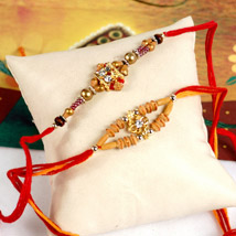 Radiant Rakhi Set: Send Rakhi to Philadelphia