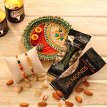 Rakhi Gift of health: Rakhi With Dryfruits USA