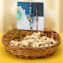 Rakhi pair with dry fruits: Rakhi With Dryfruits USA