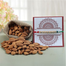 Rakhi with 100gms Almonds: Rakhi With Dryfruits USA