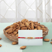 Rakhi With Almonds: Rakhi With Dryfruits USA
