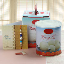 Rasgulla and Rakhi: Rakhi With Sweets to USA