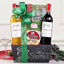 Red and White Christmas Duet Gift Basket: Thanks Giving Day Gifts to USA