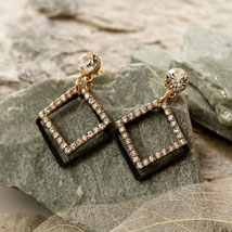 Rhombus Stone Earring: Womens Day Gifts to USA