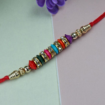 Simple Beaded Rakhi: Rakhi to Philadelphia