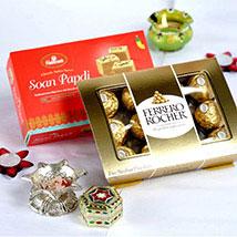 Soan Papdi N Ferrero Rocher Bhai Dooj Hamper: Send Sweets to USA