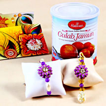 Stunning Rakhis with Gulab Jamuns: Rakhi for Bhaiya Bhabhi USA