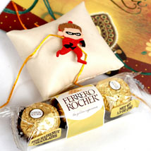 Superhero Rakhi With Rocher: Rakhi to Denver