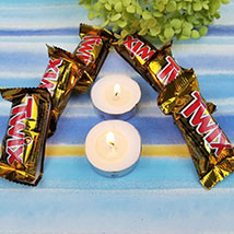 Twix Chocolate Bars N Diyas: Send Bhai Dooj Gifts to USA