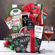 Vintners Path Rose Gift Basket: Christmas Gift Hampers to USA